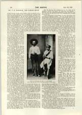 1896 FR Burnham famoso Scout señor hasta Swinburne batalla umgusa River Miss Martino