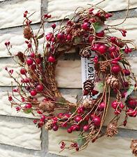 Beerenkranz Hagebuttenkranz Rot Kranz 20cm Rot Herbst Wandkranz Früchte Beeren