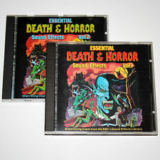 2CD ESSENTIAL DEATH & HORROR Sound Effects V.1&2 from BBC LIBRARY 1977 Halloween