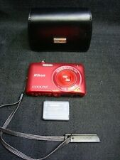 Nikon Coolpix S4100 14MP Red Compact Camera