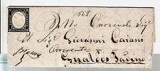 SARDEGNA-20c(15E) sfuggito annullamento-Lettera Perugia->Gualdo Tadino 30.1.1862