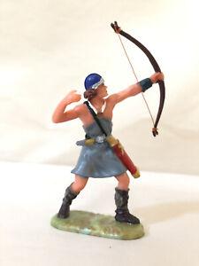 Vintage Elastolin Medieval Knight Prince Valiant's Archer Mother of Pearl Base