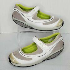 MBT Baridi Womens Size 10.5 White/Grey/Green Mary Jane Rocker Shoe