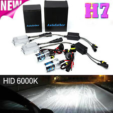 55W Xenon HID H7 Headlight Conversion Bulbs Kit Slim Metal Base Ballast 6000K