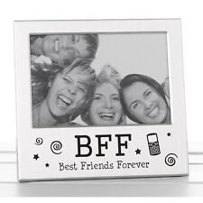BFF (Best Friends Forever) Relation Message Satin silver photo frame-shudehill