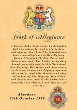 British Army Oath Of Allegiance RCT Royal Corps Of Transport