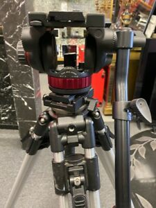 Manfrotto tripod  with fluid head MVH502AH