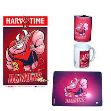 Melbourne Demons - Cartiture A3 Print, Mouse Mat, Stubby Holder & Coffee Mug.