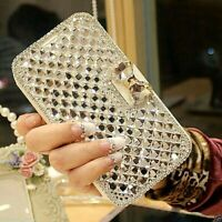 iPhone 6 Plus & 6s Plus Diamond Crystal Bow Tie Flip Case Wallet Cover FREE Post