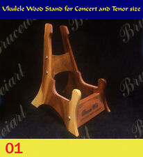 Ukulele Wood Stand For Tenor or Concert Ukulele Size, Engraved Pattern (GS-001)