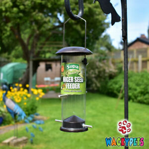 SUPA METAL NIGER SEED FEEDER & 500G NYJER SEED for Goldfinch / Wild Bird