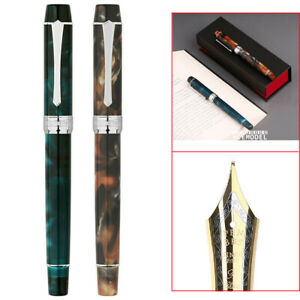 Upgraded Version PENBBS 355 Piston Fine Nib Fountain Pen Acrylic Writing w/Box