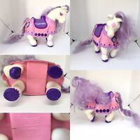 1980s Vintage Toy Tonka Keypers Purple Glitter Diamond Horse Pony Hiding Place