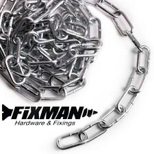 2.5mm x 24mm x 5mm THICK STEEL WELDED CHAIN LINKS HANGING FENCE LONG MAXIMUM WORK LOAD 30kgs FREE UK DELIVERY 2