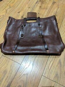 Bill Amberg Brown Leather Women's Handbag, Inc Dust Bag, Rare