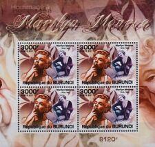 Marilyn Monroe (Smoking) 4-valeur STAMP SHEET #4 (2011 Burundi)