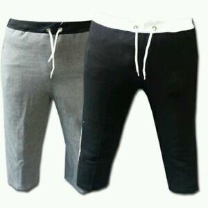 Mens Fleece shorts Jogging Joggers Bottom Long Shorts Casual Home Gym Wear MMA