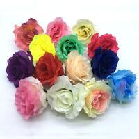 "20/50P 3"" Big Fake Rose Flowers Artificial Silk Flower Heads DIY Wedding Decor"