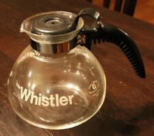 THE WHISTLER Vintage Coffee Pot by GEMCO 8 cup Glass Stovetop Tea Kettle Carafe