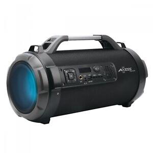 Loud Indoor & Outdoor Portable Bluetooth Speaker With LED Lighting & FM Radio