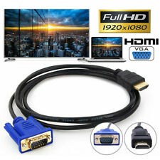 HDMI Male to VGA Male Video Converter Adapter Cable for PC DVD 1080p HDTV 6FT*
