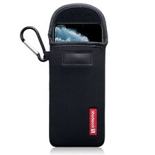 Apple iPhone 11 Pro Shocksock Neoprene Pouch Soft Case with Carabiner in Black