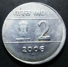 India Republic Two Rupees 2006-B off center strike error coin