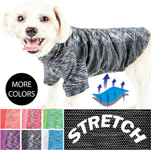 Pet Life 'Warf-Speed' Two-Toned Quick-Dry and 4-Way Stretch Solid Dog T-Shirt