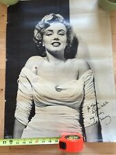 Marilyn Monroe Poster Print Mystery Signature Signed Poster
