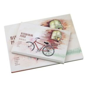 12Sheet A5/A6 Watercolor Sketchbook Paper for Drawing Painting Color Pencil Book