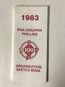 1983 QUITE RARE Philadelphia Phillies Baseball Organization Sketch Book