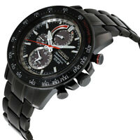 Seiko Sportura Solar Movement Black Dial Men's Watch SSC373 **Open Box**