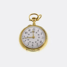 Vintage LeCoultre & CIE Small Pocket Watch 18ct Yellow Gold