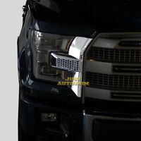 Front bumper headlight&grille Chrome Cover trim  for 15-17 Ford F150 Accessories