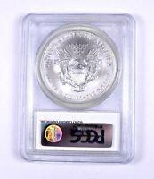 2005 American Silver Eagle graded PCGS GEM Brilliant uncirculated .9999 Fine