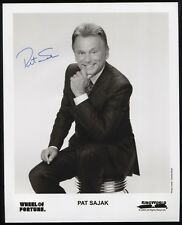 Pat Sajak Signed 8x10 Inch Photo Vintage Autographed Signature Wheel of Fortune