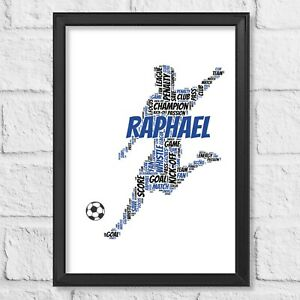 Personalised Football Gift Birthday present more Colours Available Word Art