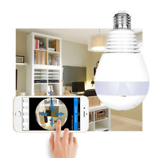 Lampadina LED con IP cam videocamera panoramica 360° fisheye sicurezza domestica