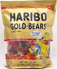 Haribo Gold Bears Gummy Candy 72 oz Resealable Bag Bulk Gummi Candies 4.5 LBS