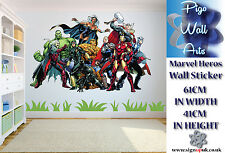 Marvel wall sticker Children's Bedroom Marvel Heroes wall decal mural.