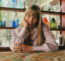 """JONI MITCHELL in LAUREL CANYON 26"""" x 28"""" Photograph by Baron Wolman, SIGNED"""