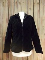 E Studio Jacket Blazer Black Quilted Cotton Velour Fitted Women's Size L