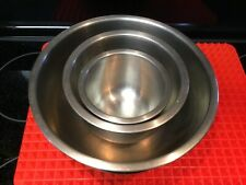 Set of 3 Stainless Steel Nesting Mixing Bowls