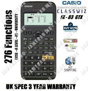 Casio FX-83 GTX GCSE & Higher Grade Scientific Calculator  276 Functions - BLACK