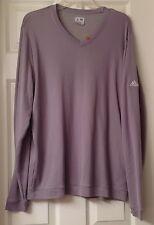 Men's Addidas long sleeve shirt, v neck , gray, size L, EUC