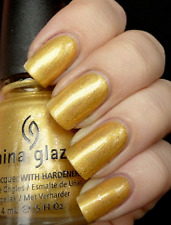 China Glaze Snow CHAMPAGNE BUBBLES Yellow Gold + Silver Glitter Nail Polish 1002