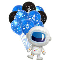 10/15Pcs Outer Space Party Astronaut Balloons Galaxy Theme Birthday Party Favo3C