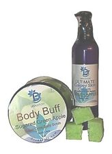 "Diva Stuff Ultimate Crepey Skin Cream & Sugar Scrub Set-""Green Apple"""
