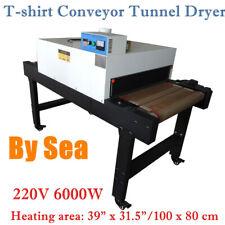 220v T Shirt Conveyor Tunnel Dryer 59ft Long X 315 Belt For Screen Printing