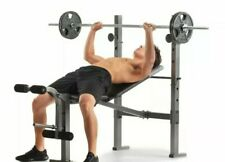 XR 6.1 Weight Bench Press with Leg Developer and Exercise Chart Home Gym